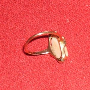 Jewelry - Antique 10k gold ring with pink coral cameo size 7